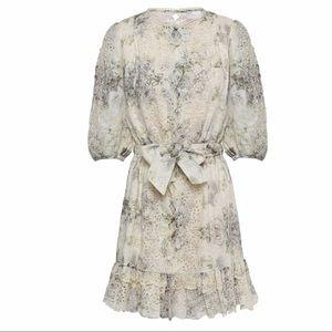 ZIMMERMANN Belted broderie anglaise linen dress